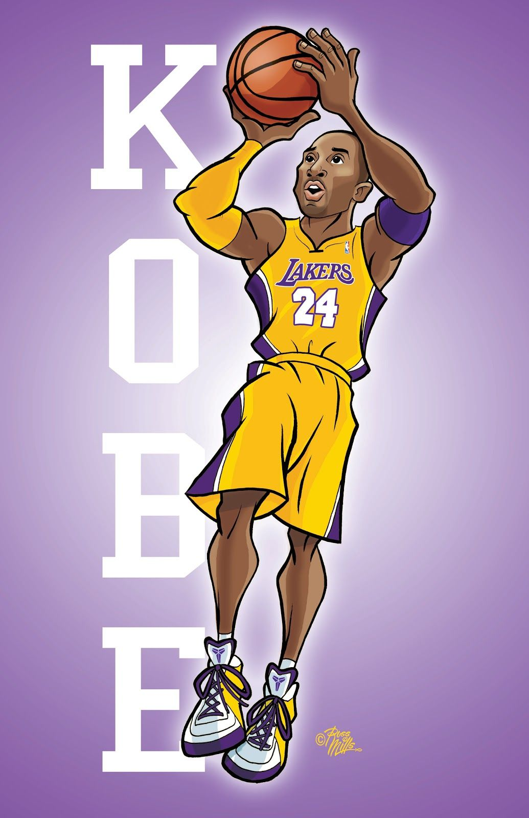 Kobe Bryant Cartoon Wallpaper Posted By Ryan Anderson