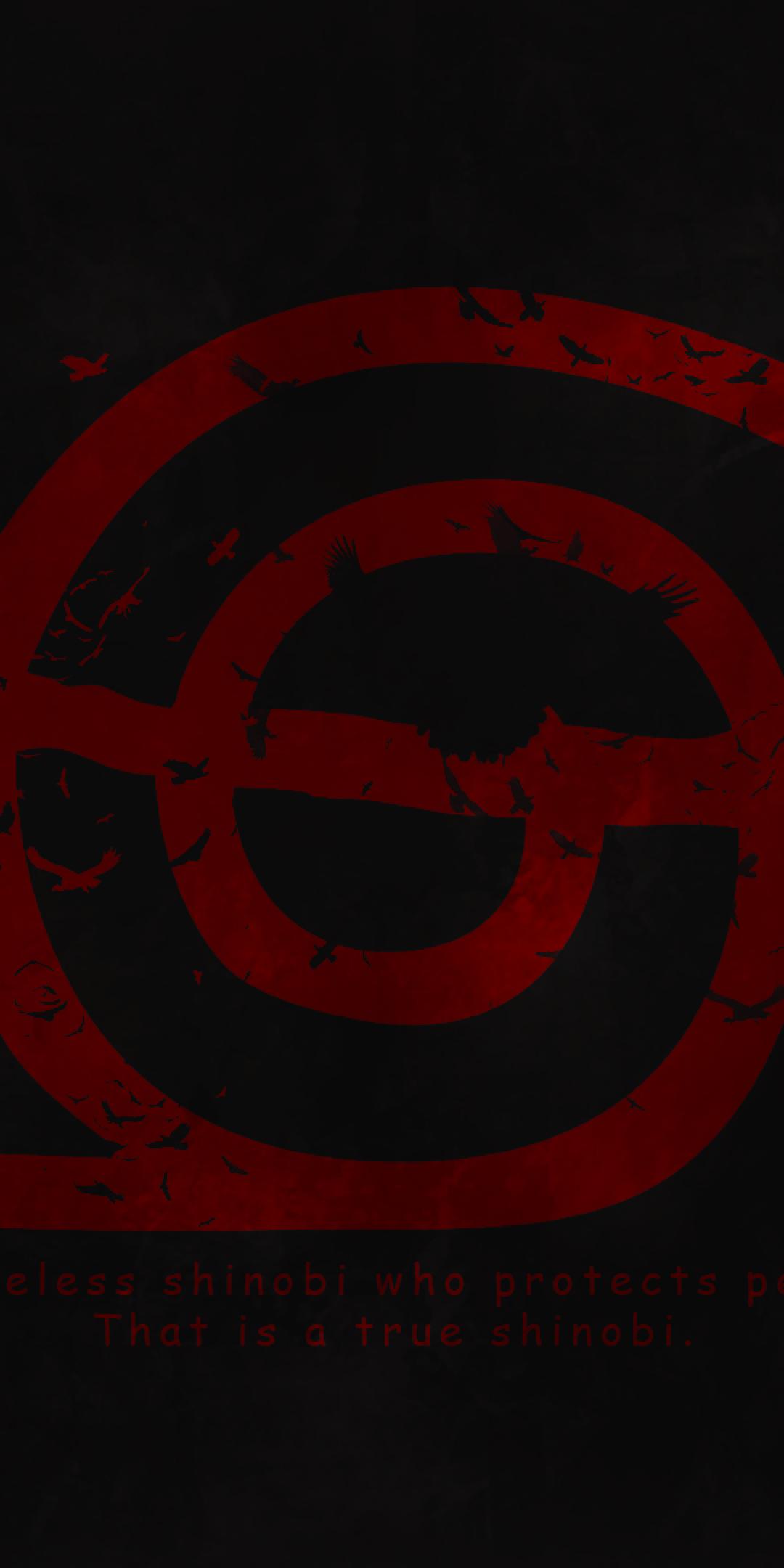 Download 1080x2160 Naruto Konoha Logo Wallpapers for Huawei