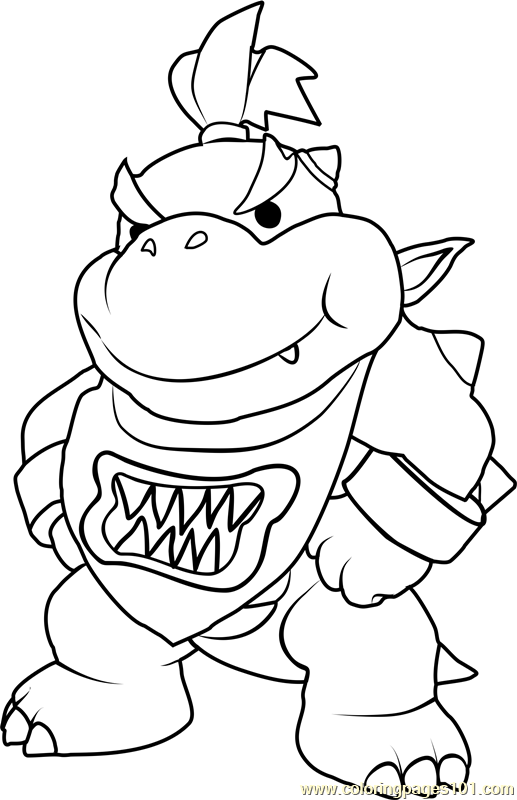paper mario coloring pages bowser