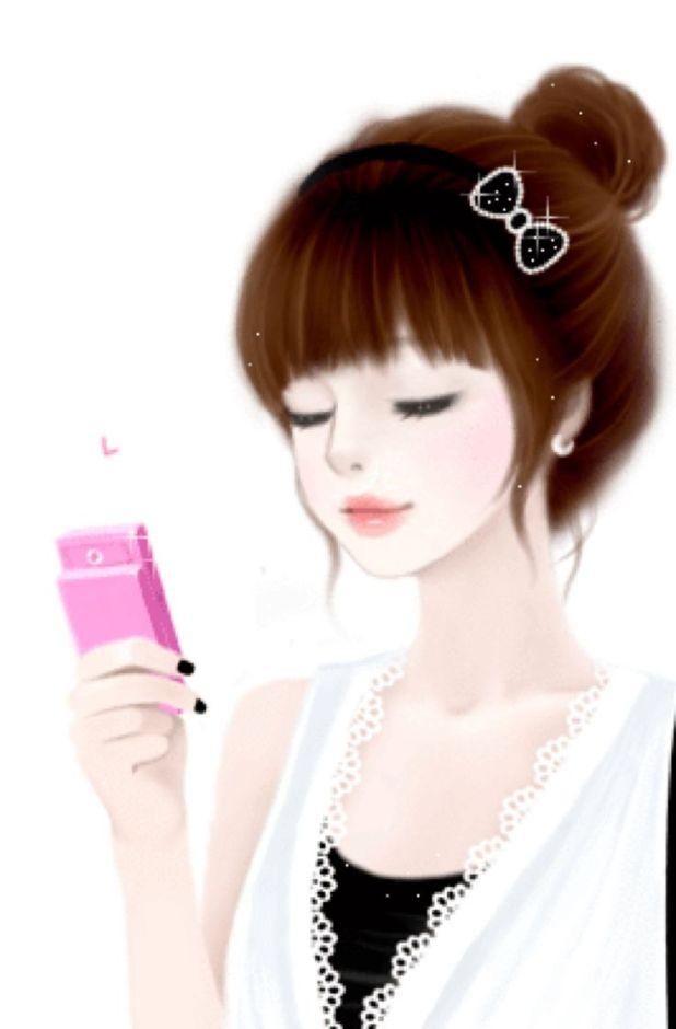Cute Korean Cartoon Girl Wallpaper Wallpaperozy.org