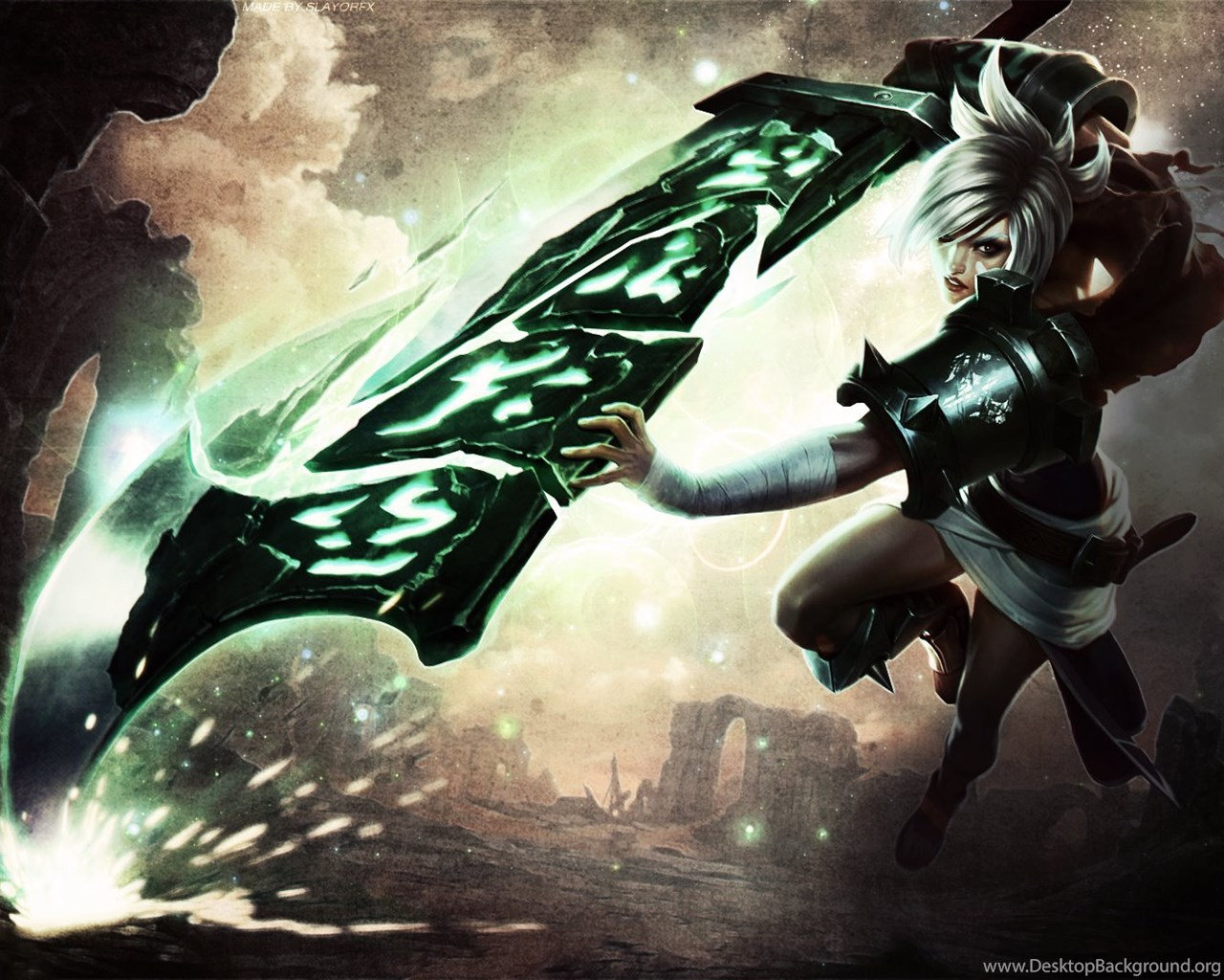 League Of Legends Riven Wallpaper