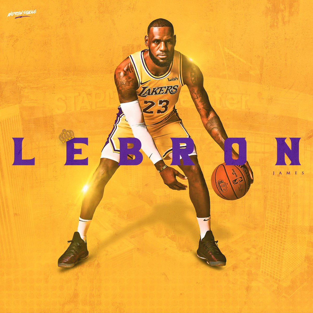 Lebron James Lakers Wallpaper Posted By Samantha Thompson