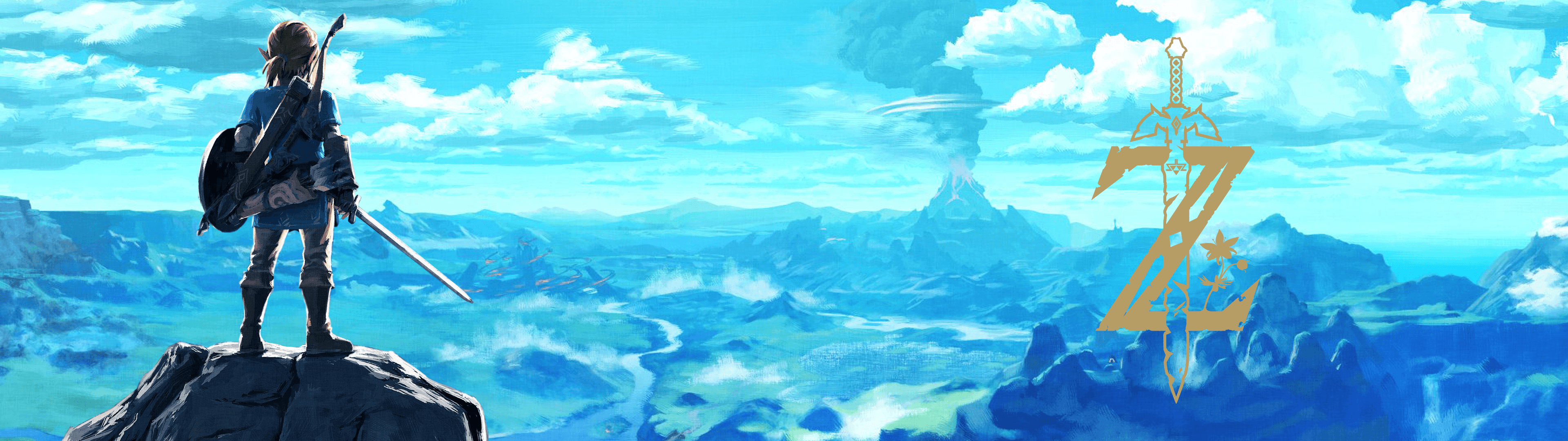Legend Of Zelda Dual Monitor Wallpaper Posted By Ryan Mercado