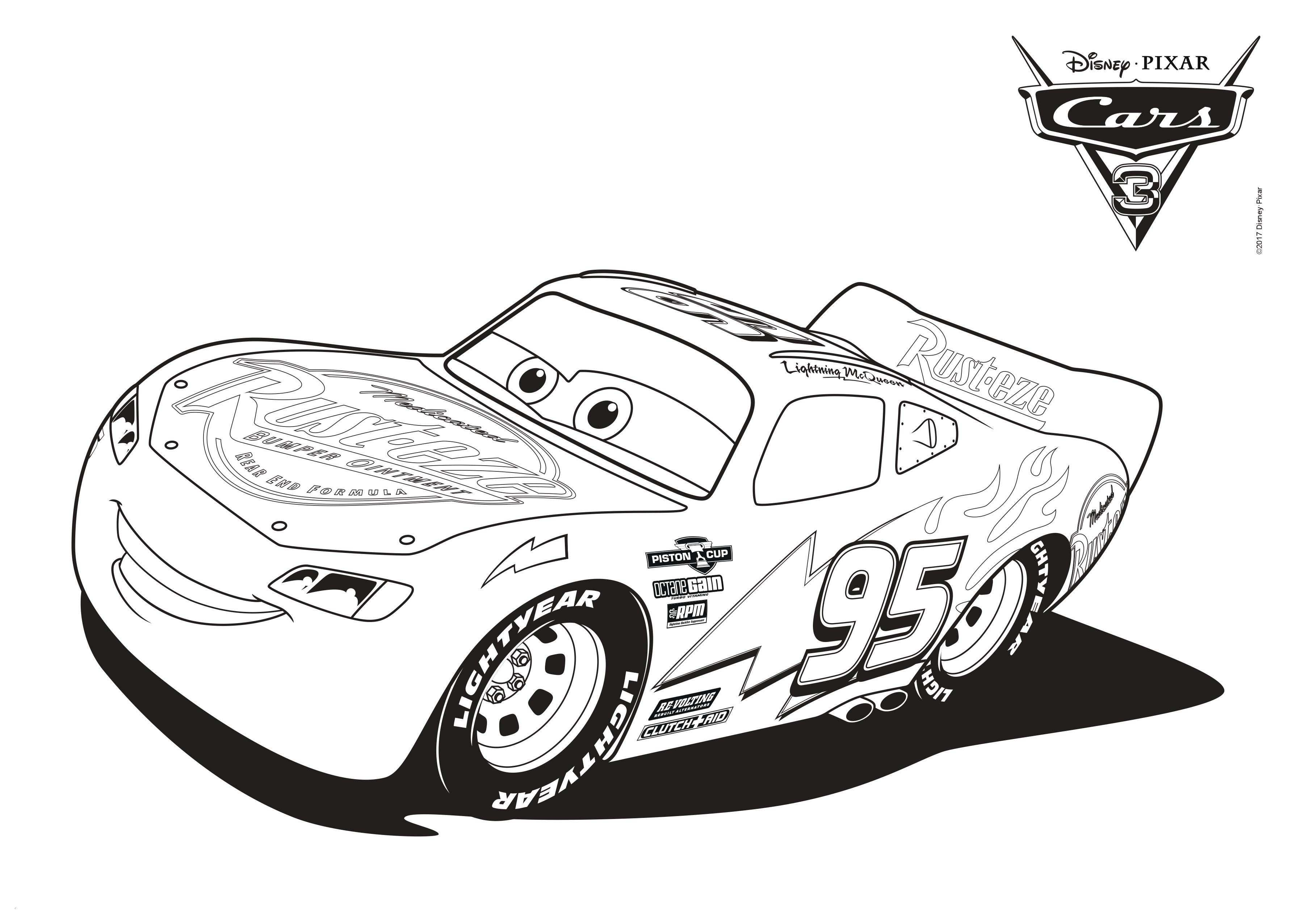 Free Printable Lightning McQueen Coloring Pages For Kids | 2552x3579