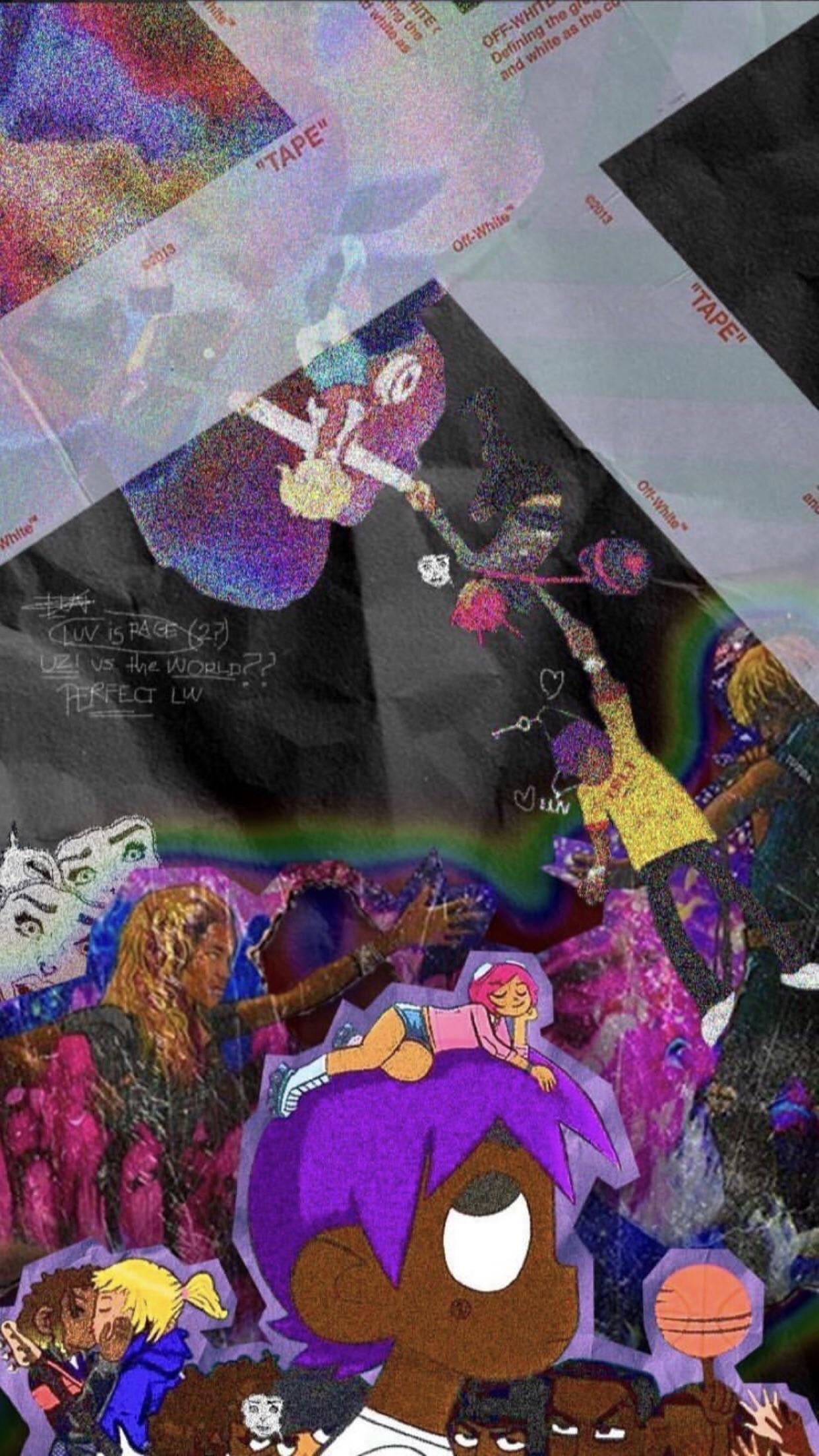 Lil Uzi Vert Vs The World Wallpaper Posted By John Johnson Goten & trunks 🤘🏾® #liluzivert #playboicarti. lil uzi vert vs the world wallpaper