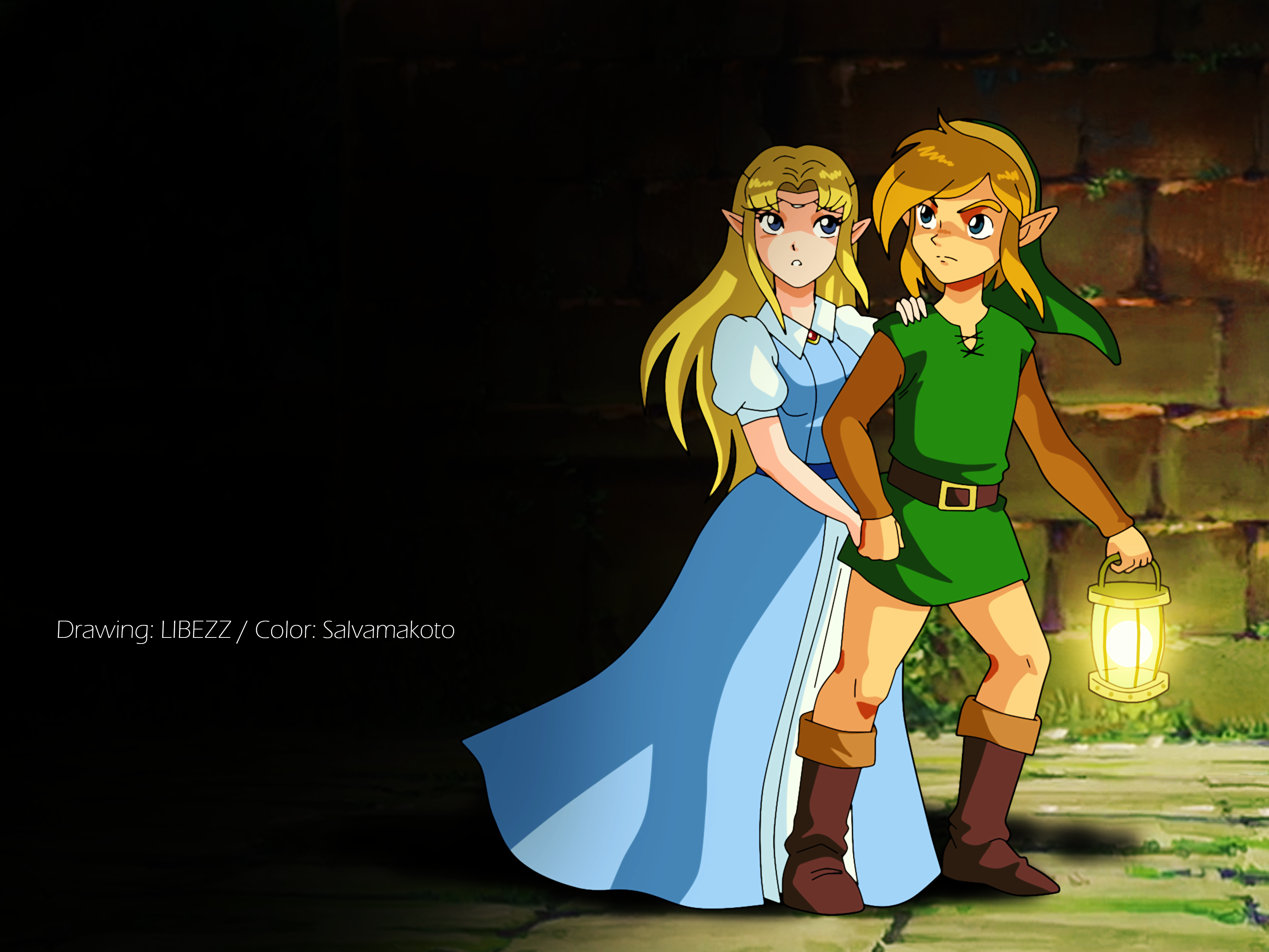 Link And Zelda Wallpaper Posted By Zoey Anderson