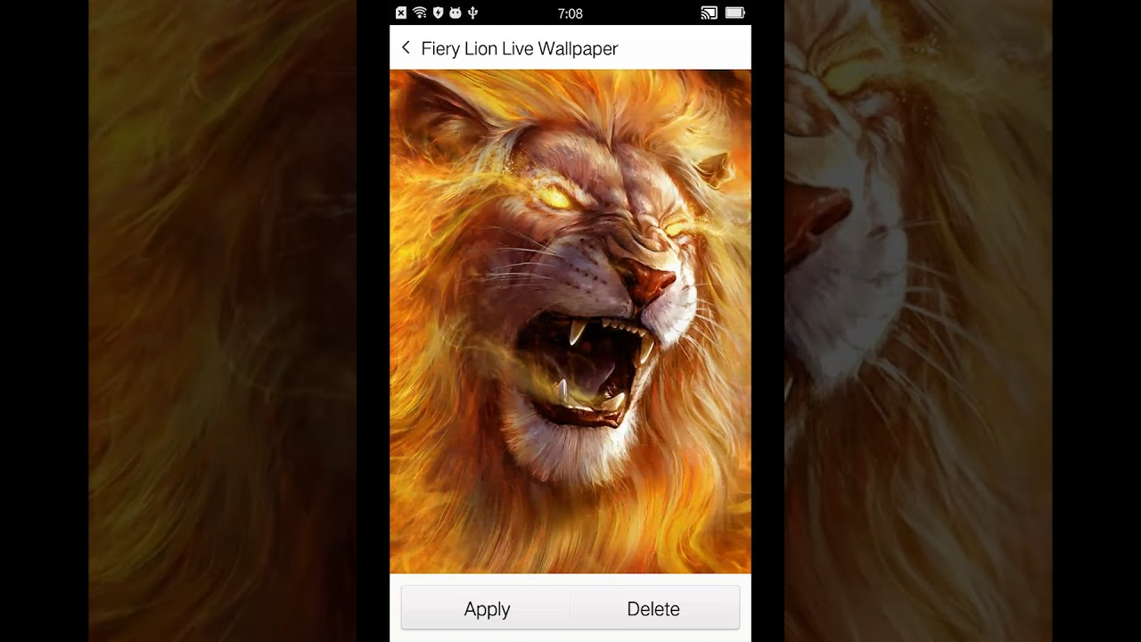 Roaring Lion Live Wallpaper by 3D Theme and HD Live