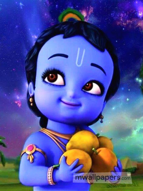 Download Krishna Wallpapers Cute Animated Baby Krishna
