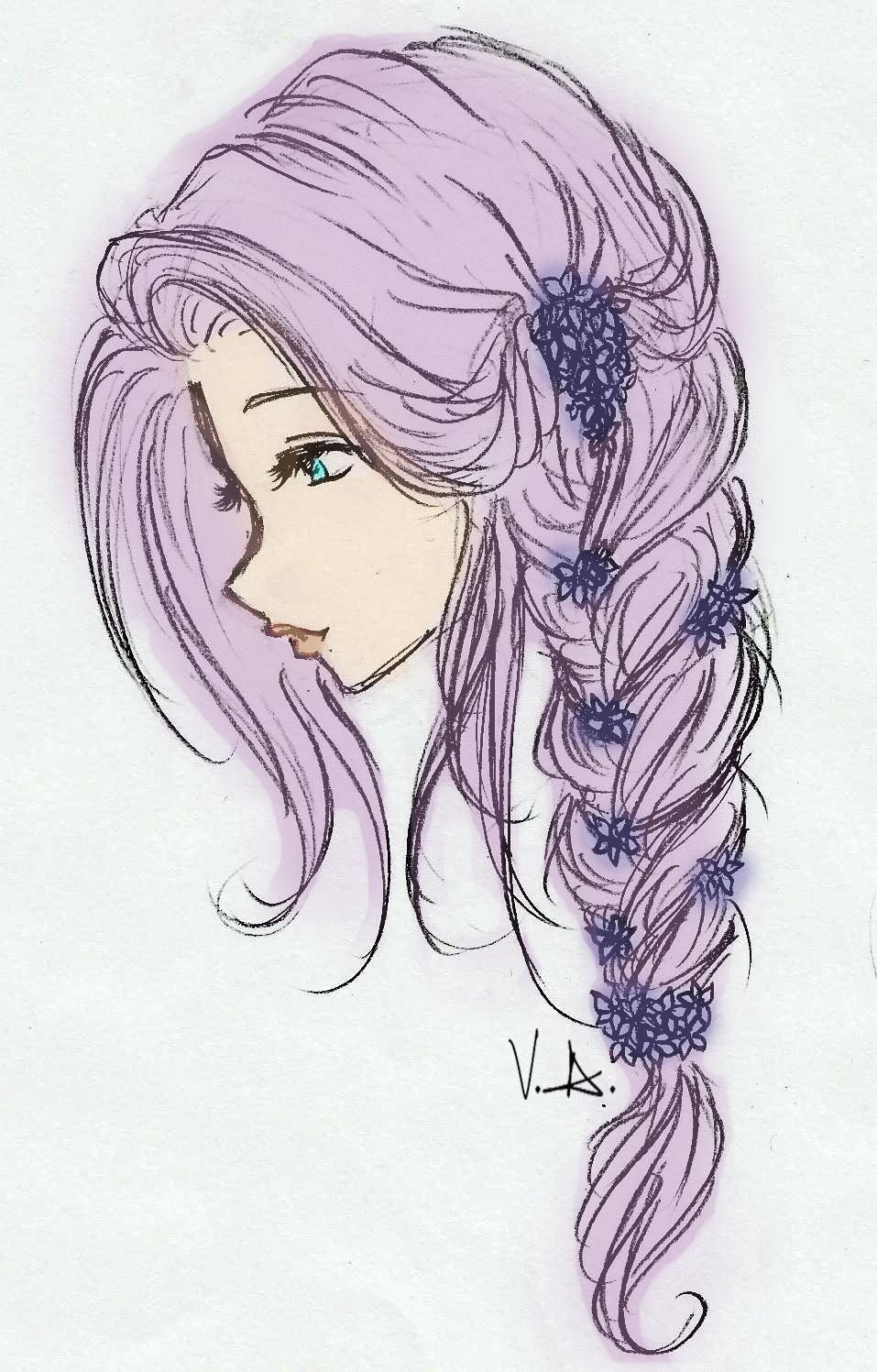 Long Anime Girl Hair Posted By Michelle Walker