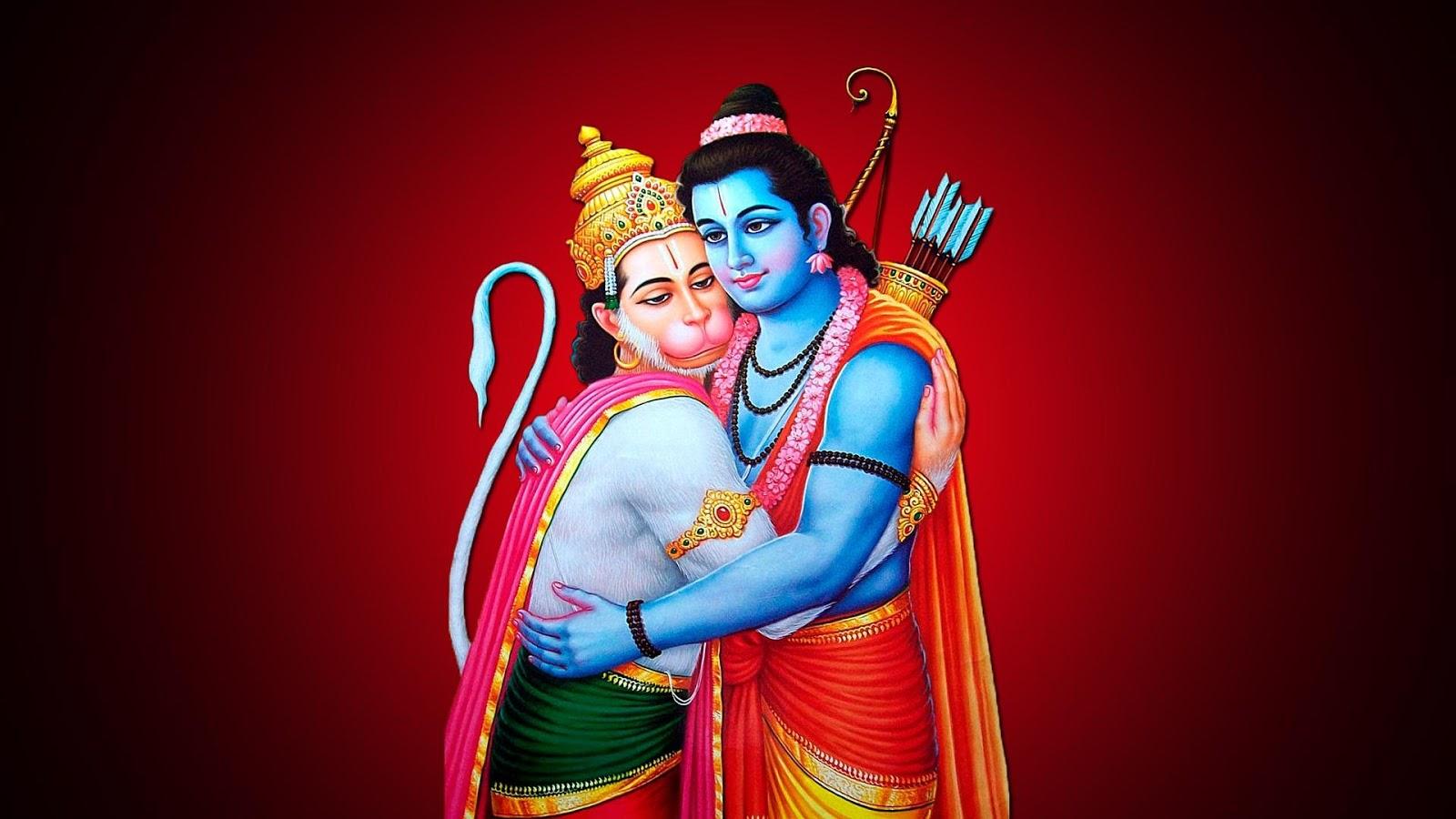 Hanuman Hd Wallpaper Full Size Lord Ram And Hanuman Hug