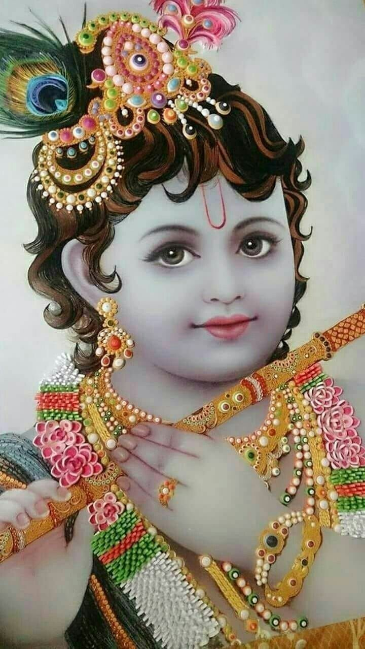Krishna in 2019 Lord krishna wallpapers, Cute krishna