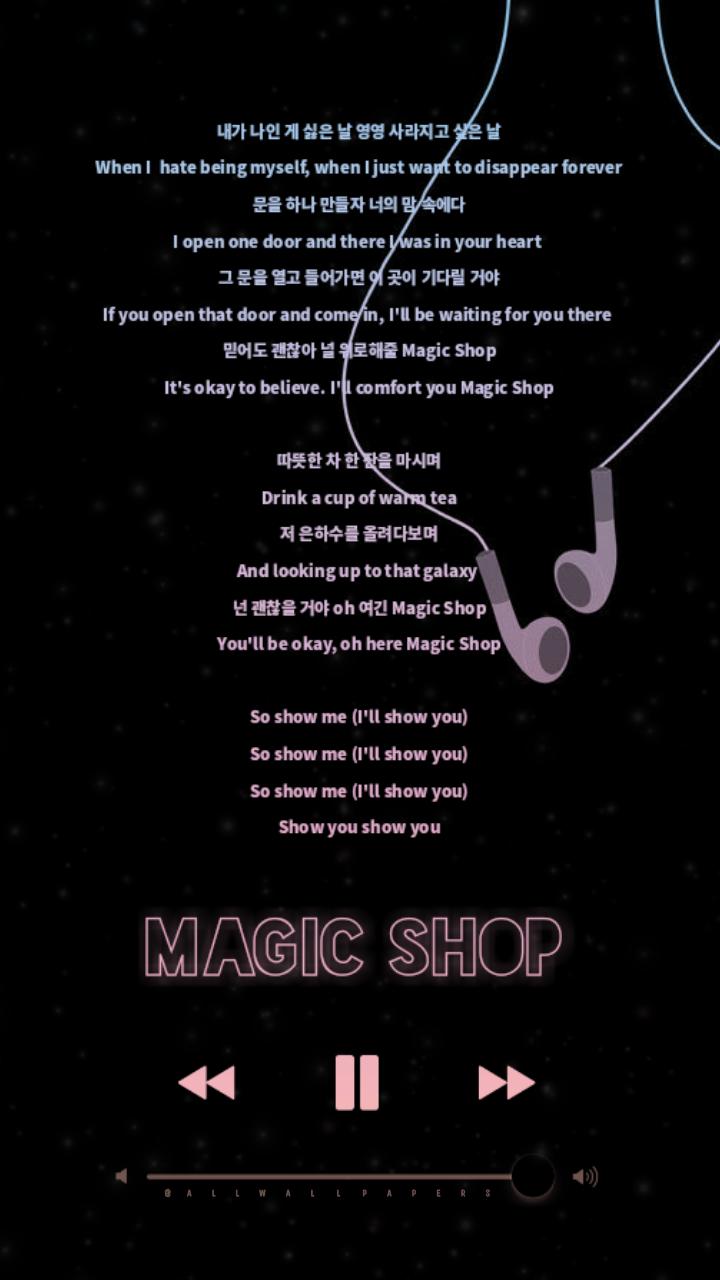 BTS Magic Shop Lyrics Wallpaper Lockscreen This so