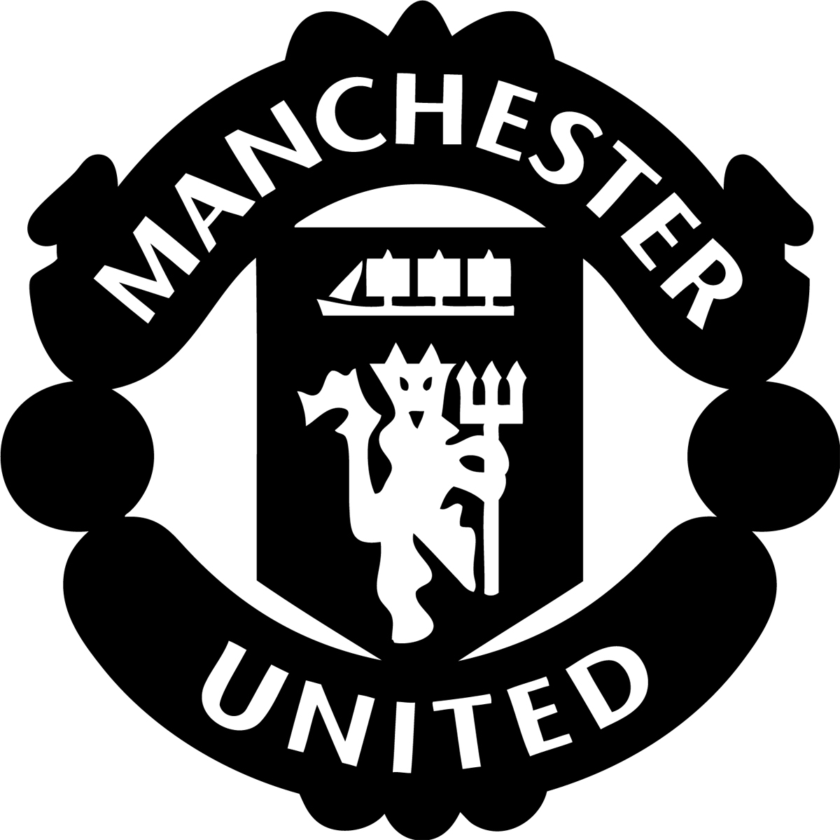 Manchester United Logo Black And White Posted By Michelle Johnson