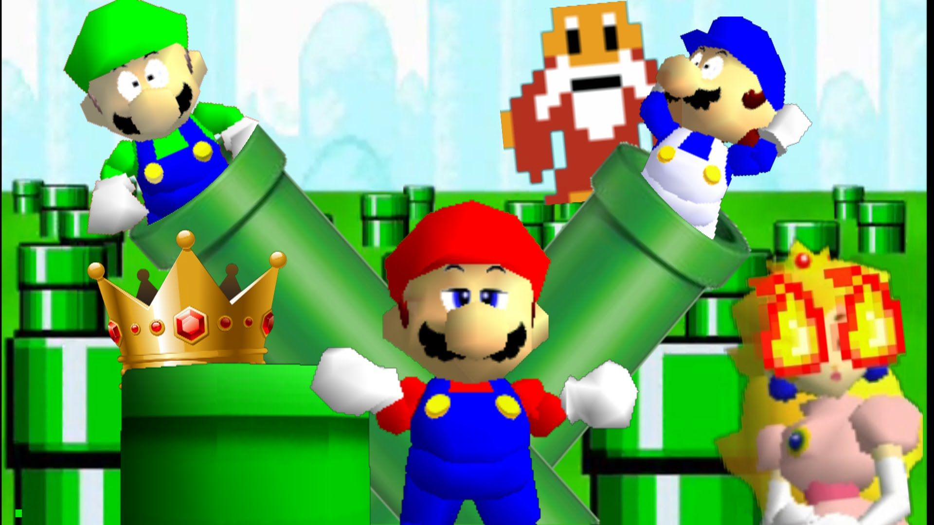 Super Mario 64 Bloopers Series 2 Charcathers Roblox Mario 64 Background Posted By Samantha Cunningham