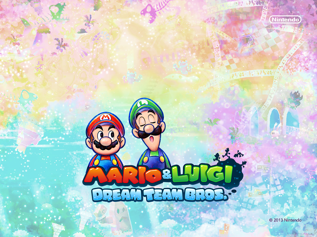 Mario And Luigi Dream Team Wallpaper Posted By Christopher Peltier