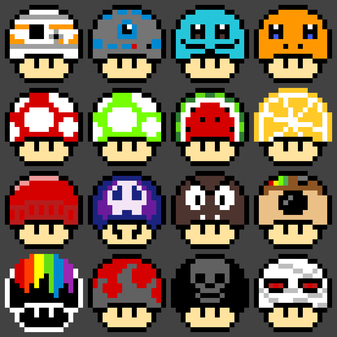 Mario Mushrooms Images Posted By Zoey Simpson