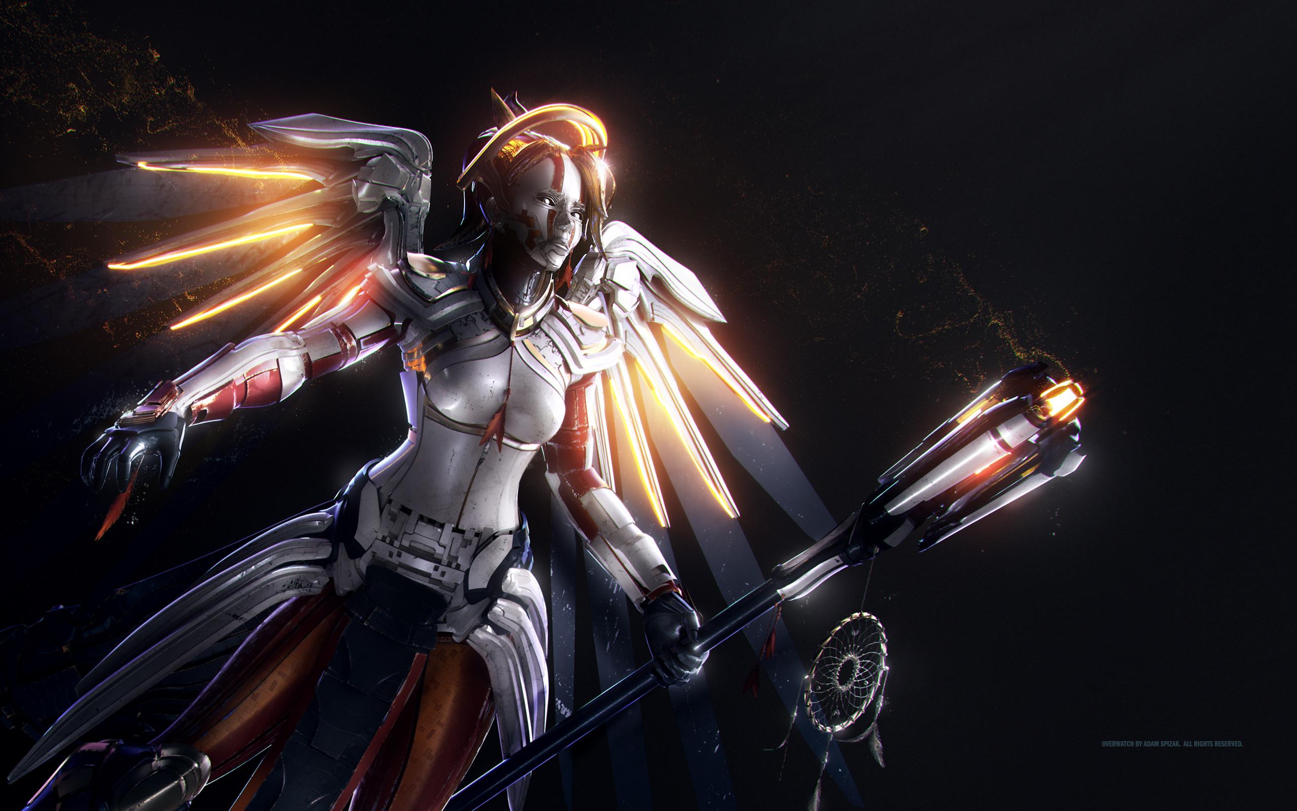 Wallpaper Mercy Overwatch HD Games 7699
