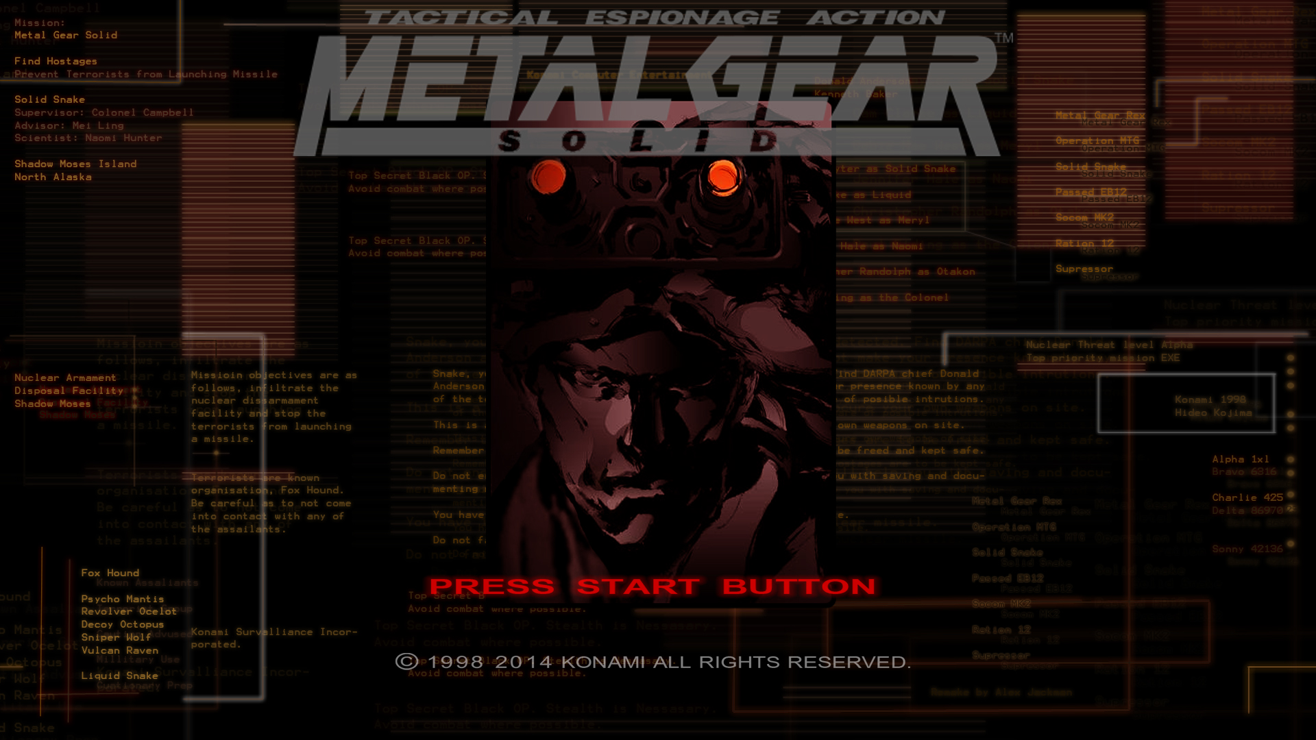 Metal Gear Solid 1 Wallpaper 1920x1080 posted by Samantha Peltier