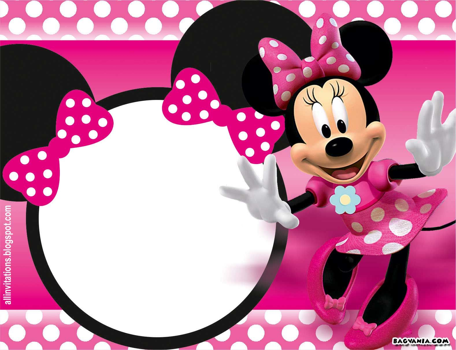 This is a picture of Free Printable Mickey Mouse Birthday Invitations regarding 1st birthday