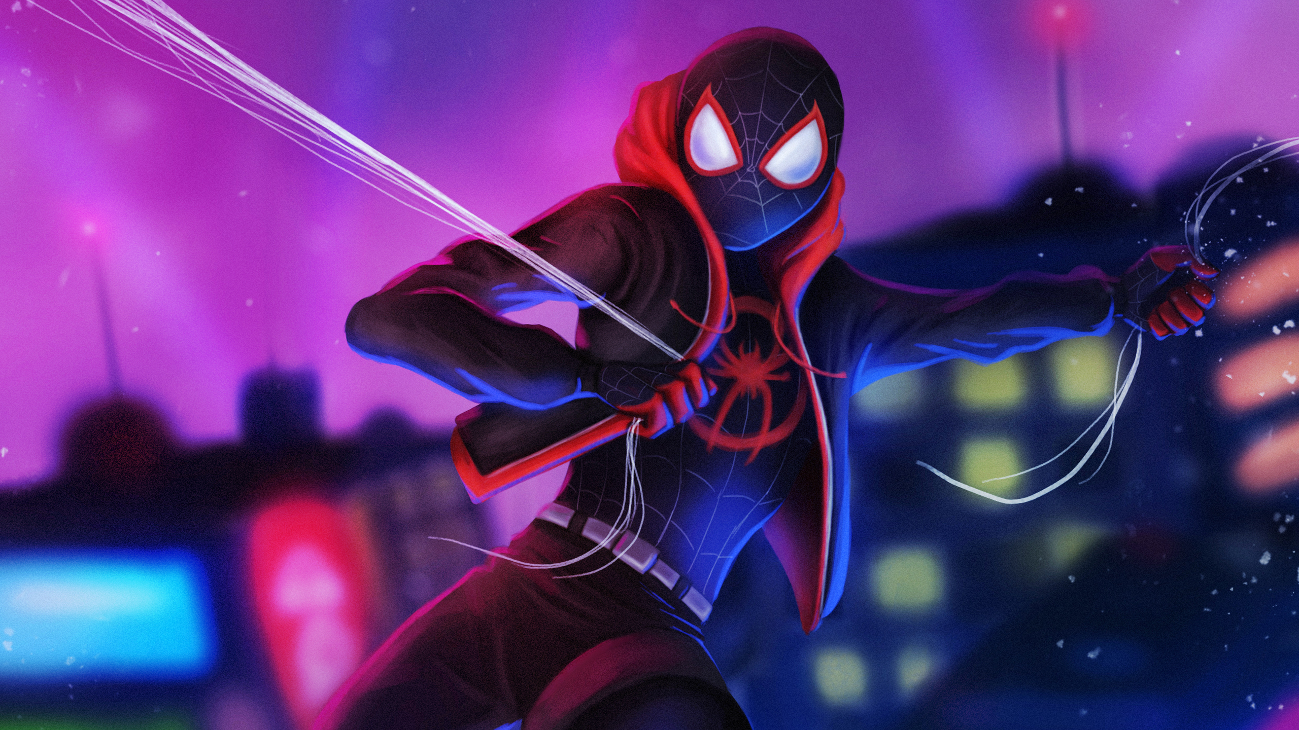 Miles Morales Falling Wallpaper Posted By Christopher Walker