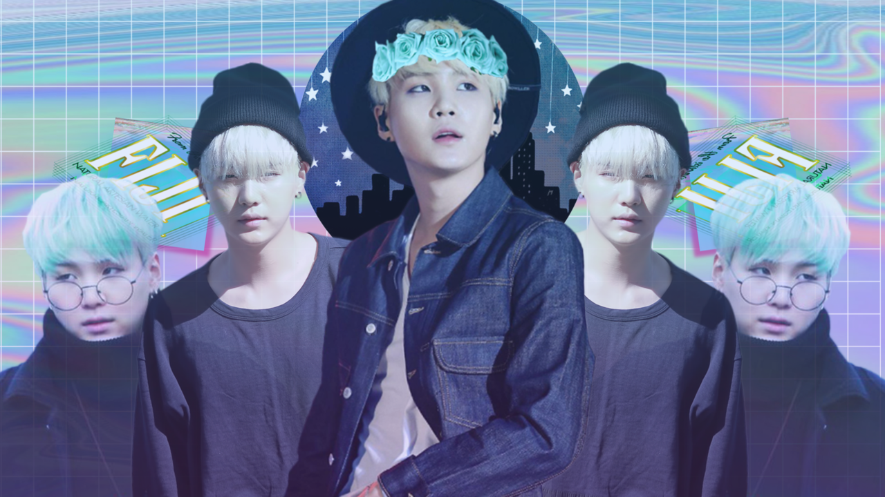 Aesthetic BTS Wallpaper Suga by FuzzyDark on DeviantArt in