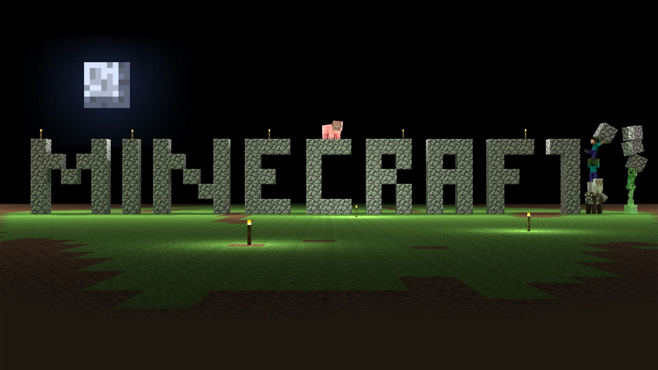 Minecraft Background 2560x1440 Posted By John Cunningham