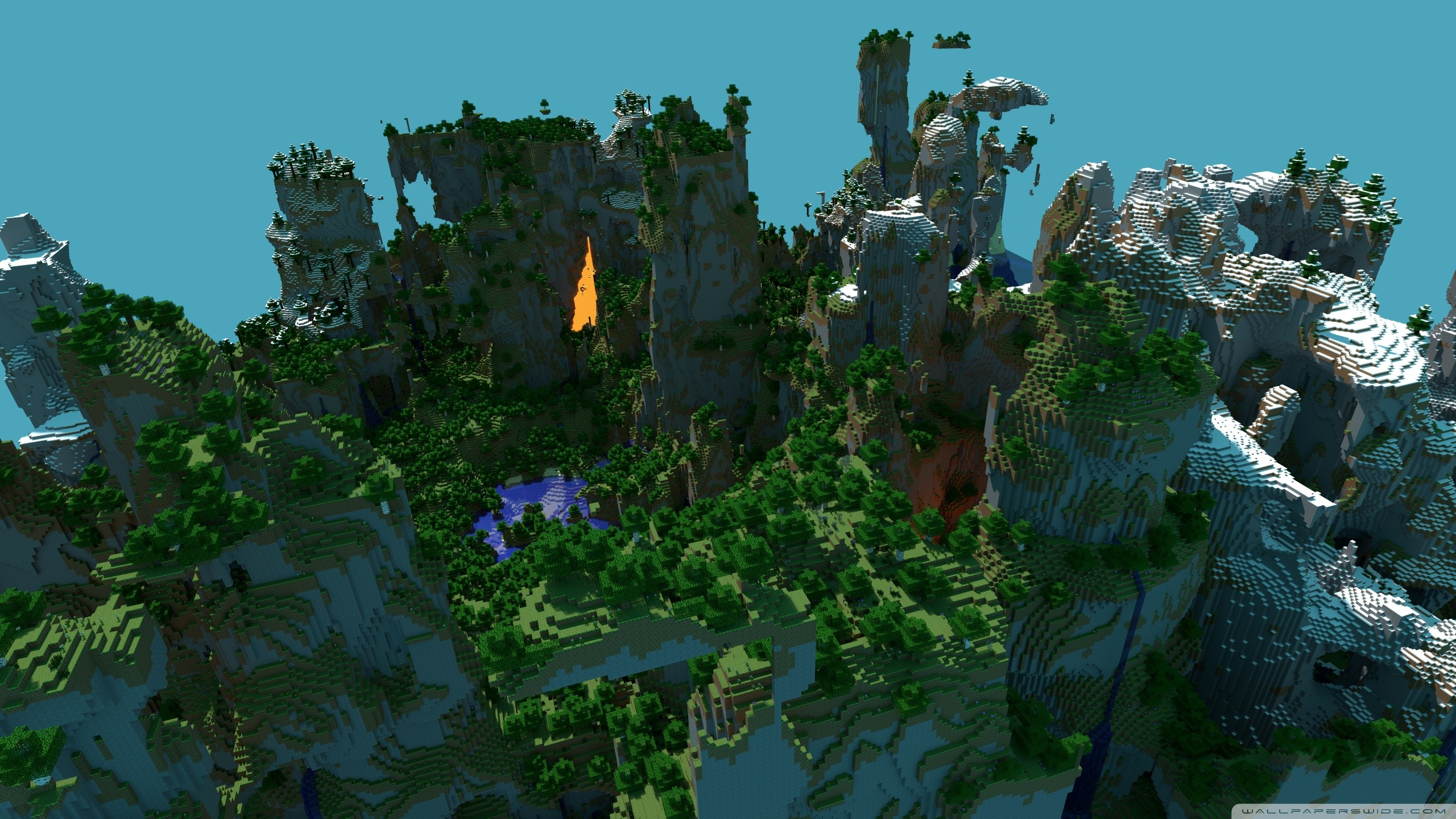 Minecraft Wallpaper 2560x1440 Posted By John Sellers