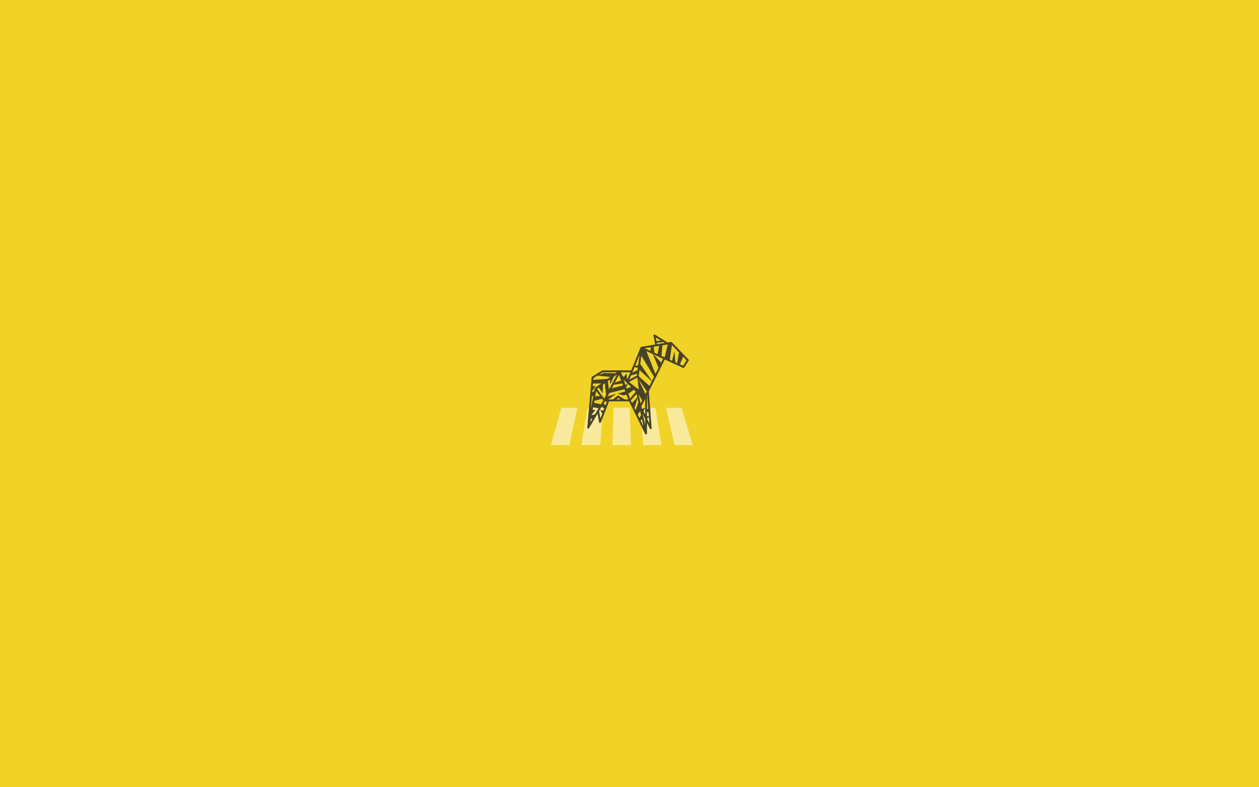 Minimalist Yellow Aesthetic Desktop Wallpaper