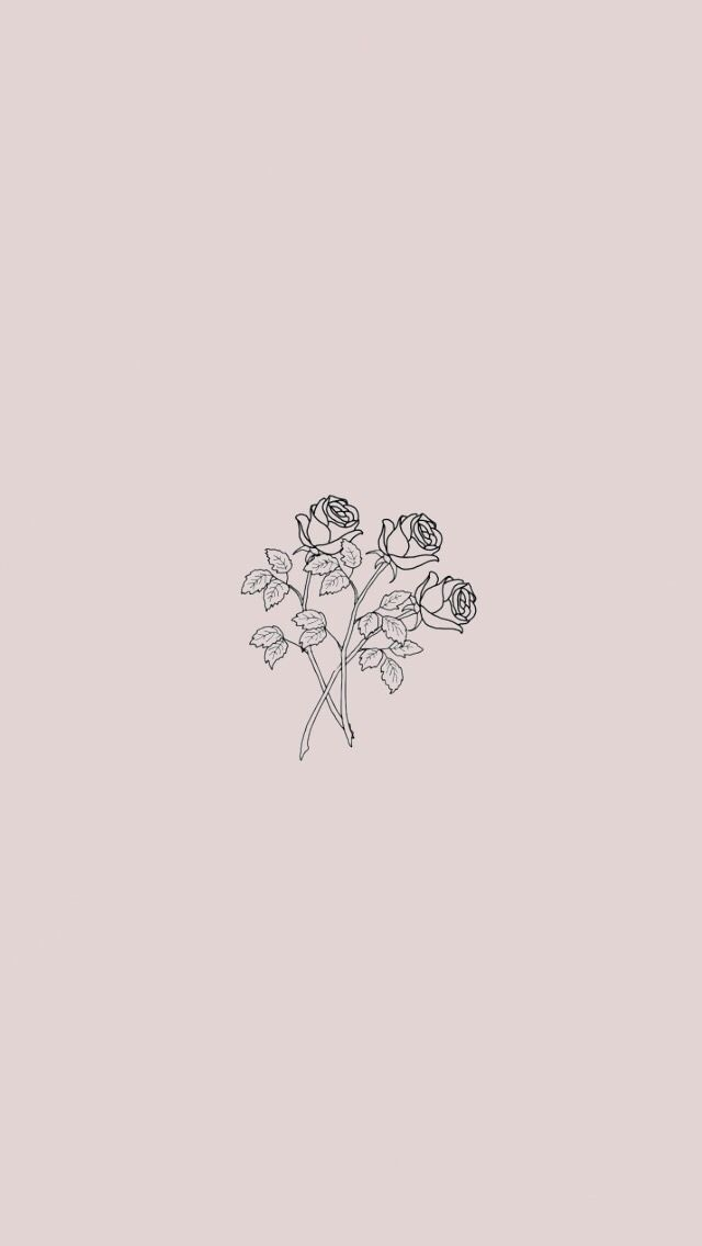 Minimalist roses in 2019 Cute lockscreens Simple