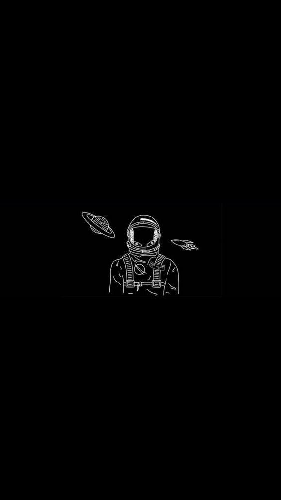 Astronaut in 2019 Dark wallpaper Black wallpaper