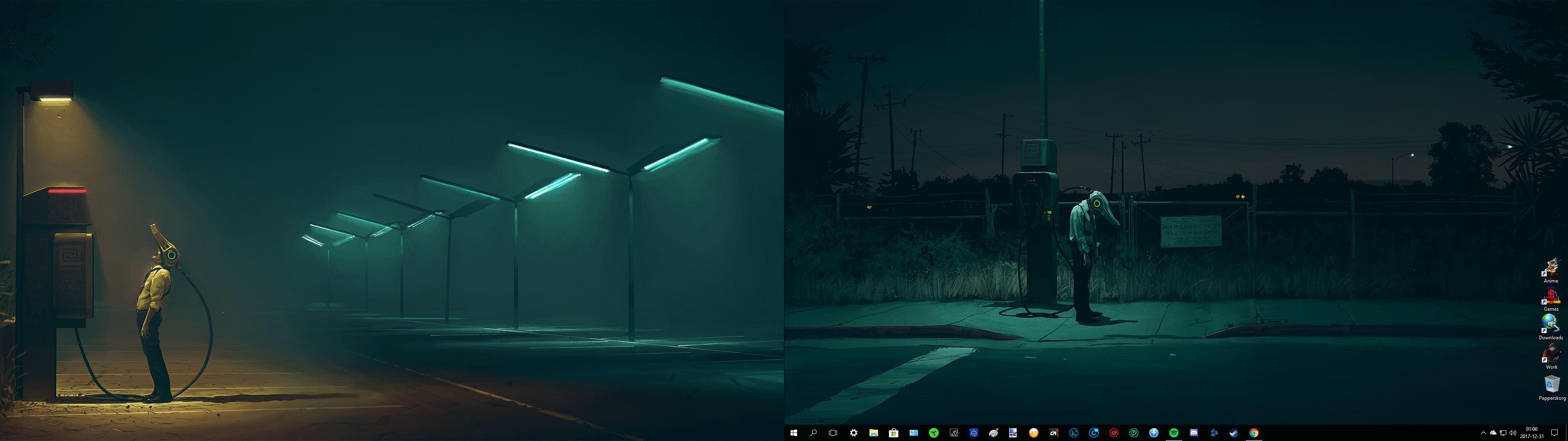 Minimalist Dual Monitor Wallpaper Posted By Ryan Mercado