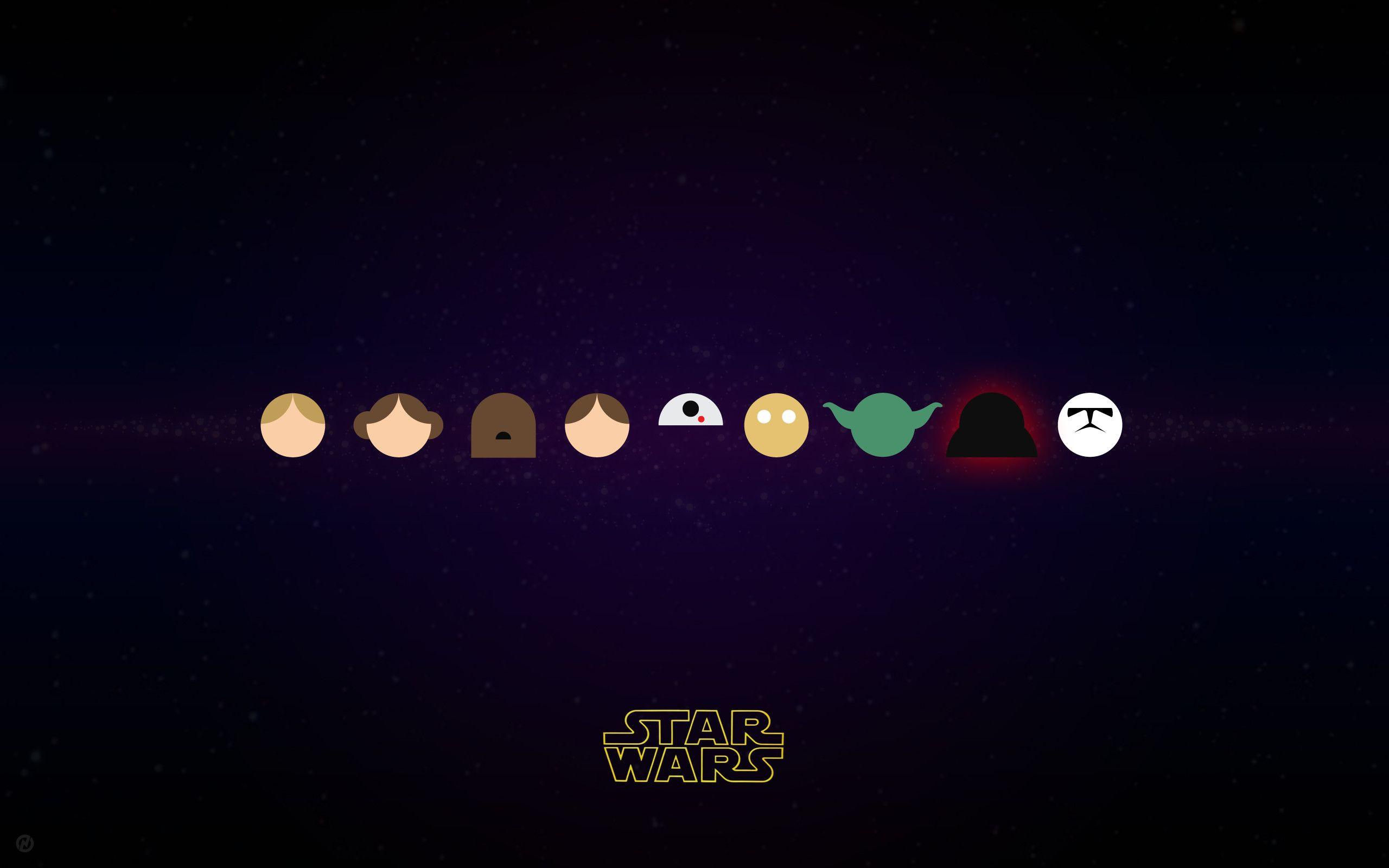 Star Wars Logo Wallpaper 4k
