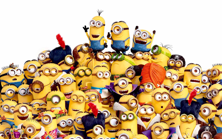 Download wallpapers Minions funny characters 3d animation