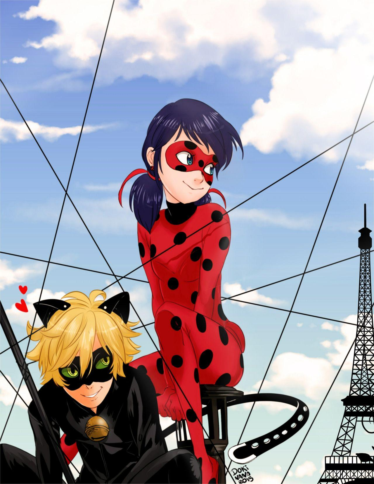 Miraculous Ladybug And Cat Noir Fanart Posted By Ethan Walker