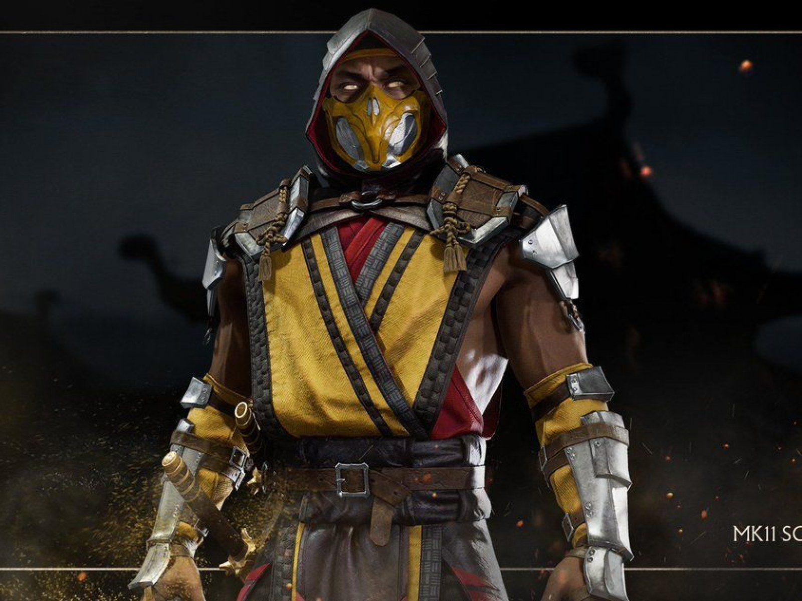 mortal kombat 11 mk11 scorpion wallpaper