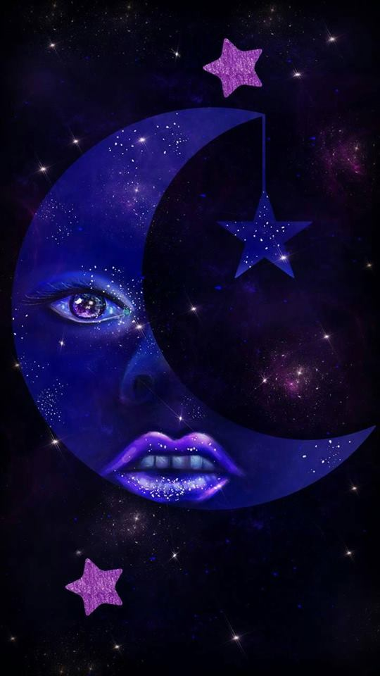 Moon And Stars Wallpaper Posted By Sarah Walker
