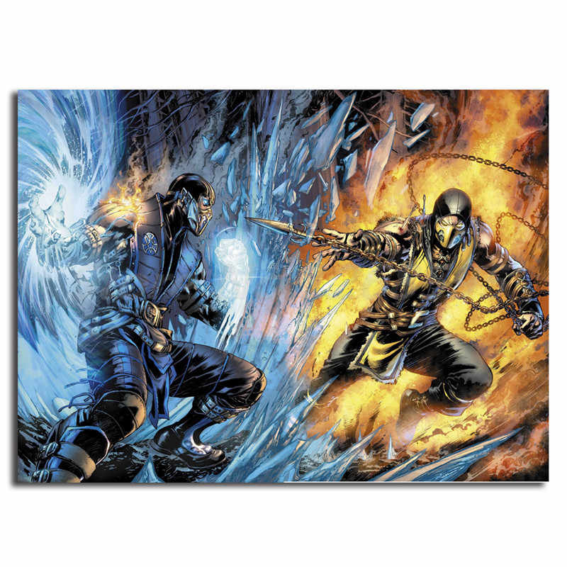 scorpion sub zero mortal kombat 11 wallpaper