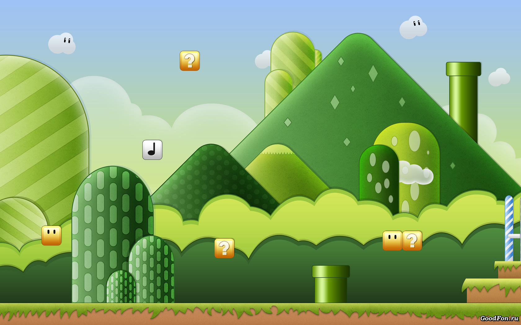 Mushroom Kingdom Background Posted By Samantha Cunningham