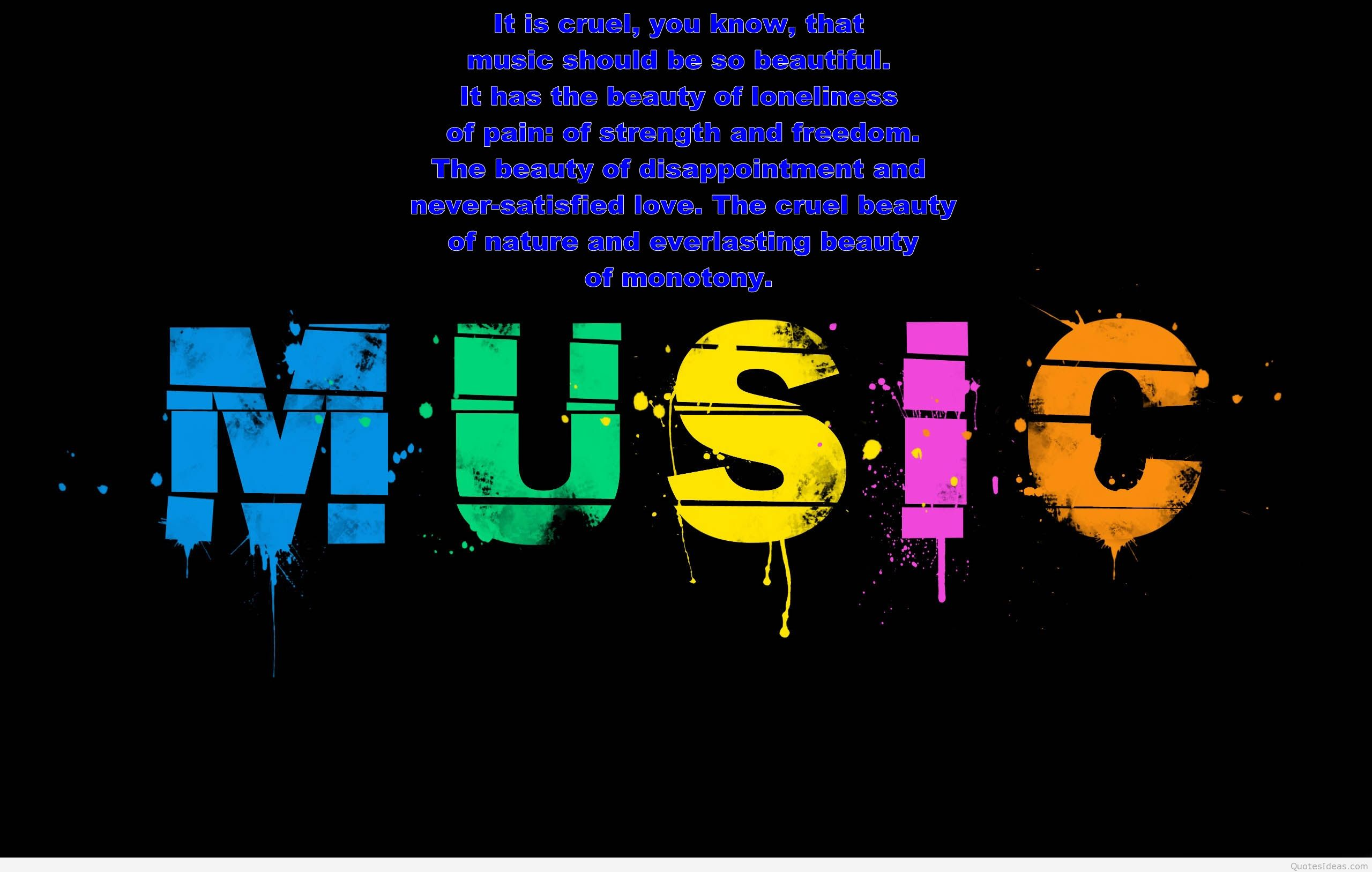 Music Quote Wallpaper Posted By Michelle Johnson