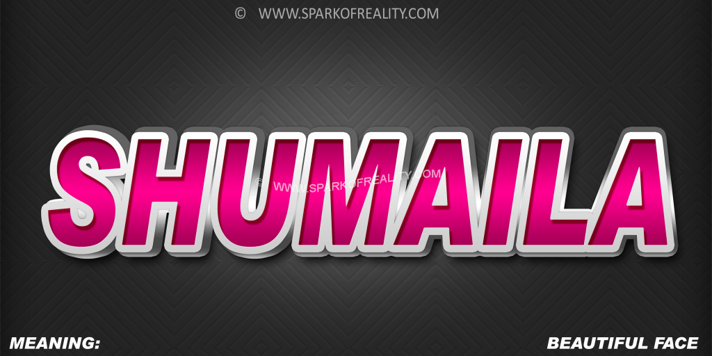 SHUMAILA 3D Name Wallpaper Download Free Spark of Reality