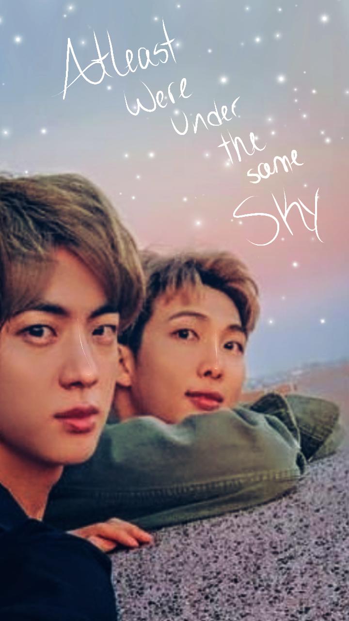 Namjin sky Wallpaper bts btsquote btsjin btsnamjoon jin