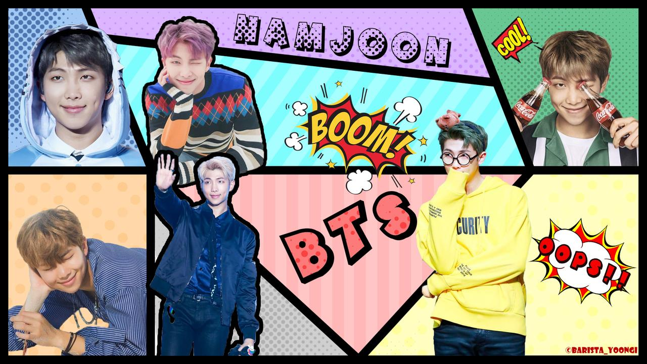 BTS RM Namjoon desktop Wallpaper by AkariChan87Gaby on