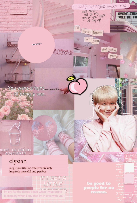 bts rm namjoon wallpaper pink aesthetic aA Flyer Free
