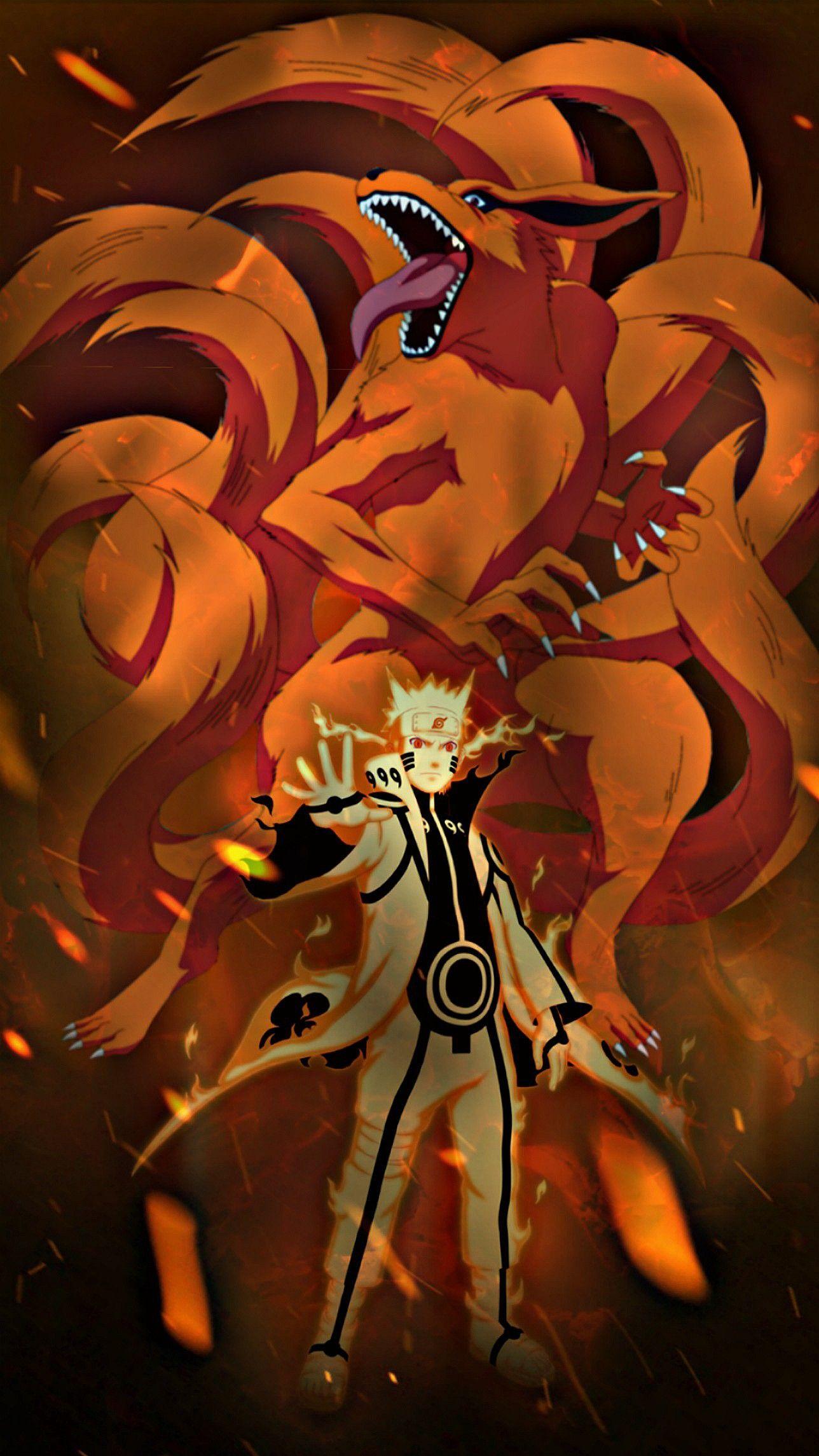 Naruto Wallpaper naruto kyubi sixpath sagemode kurama