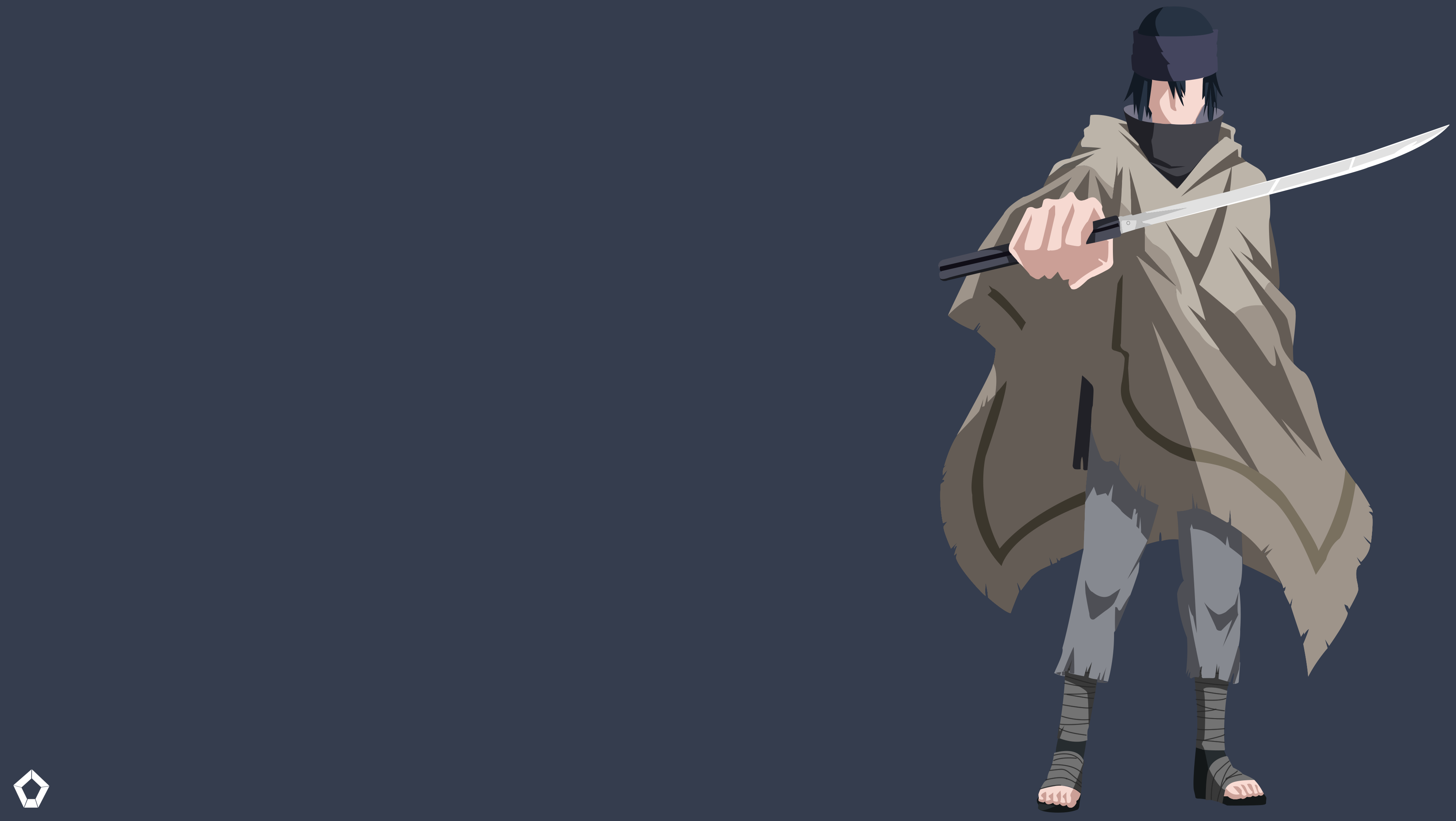 Sasuke Uchiha Wallpaper Naruto Minimalist Wallpaper 4k
