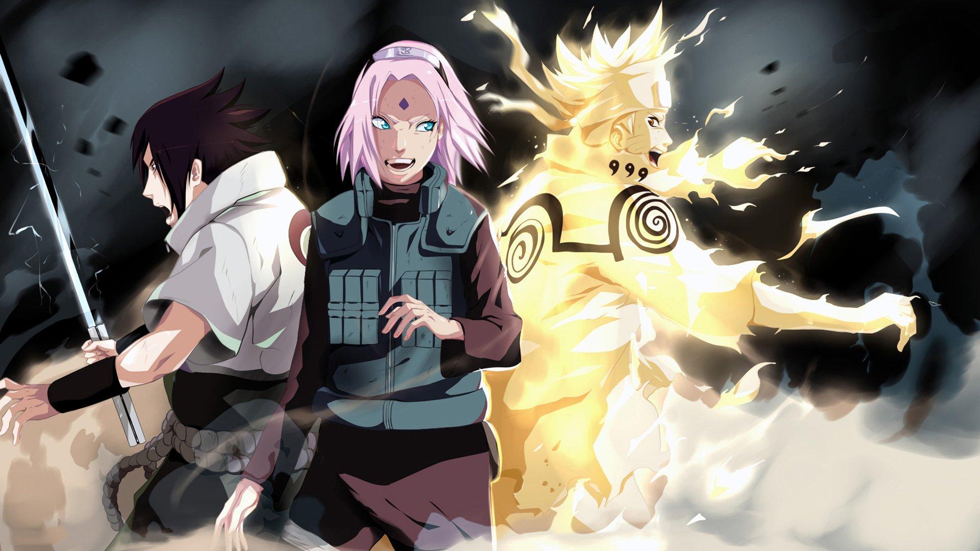 Team 7 SasukeSakura and Naruto HD Wallpaper Background