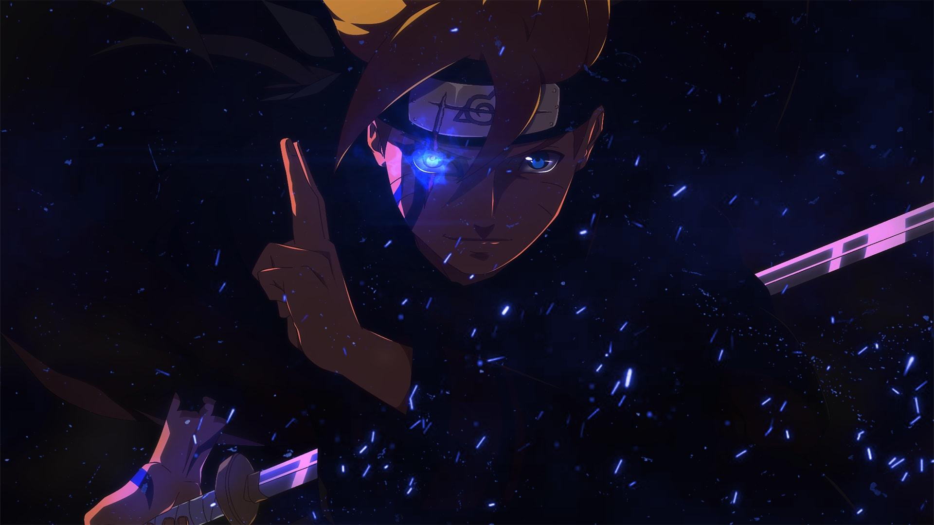 Wallpaper of Anime Blue Boruto Sword Naruto background