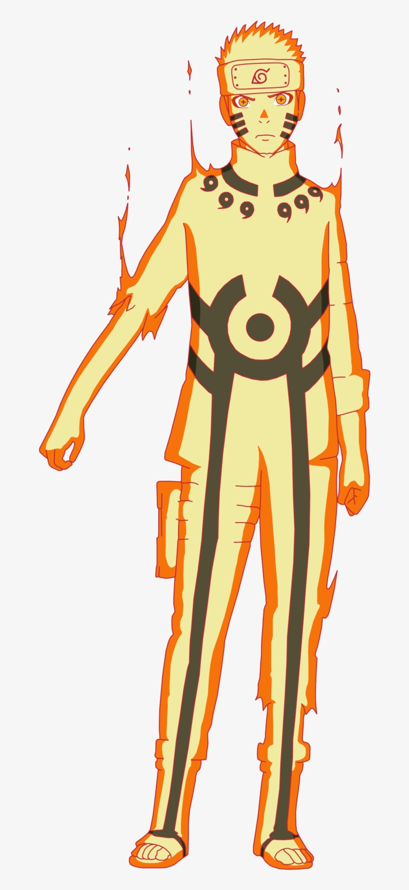 Naruto Uzumaki Naruto Nine-Tails Bijuu Mode costume