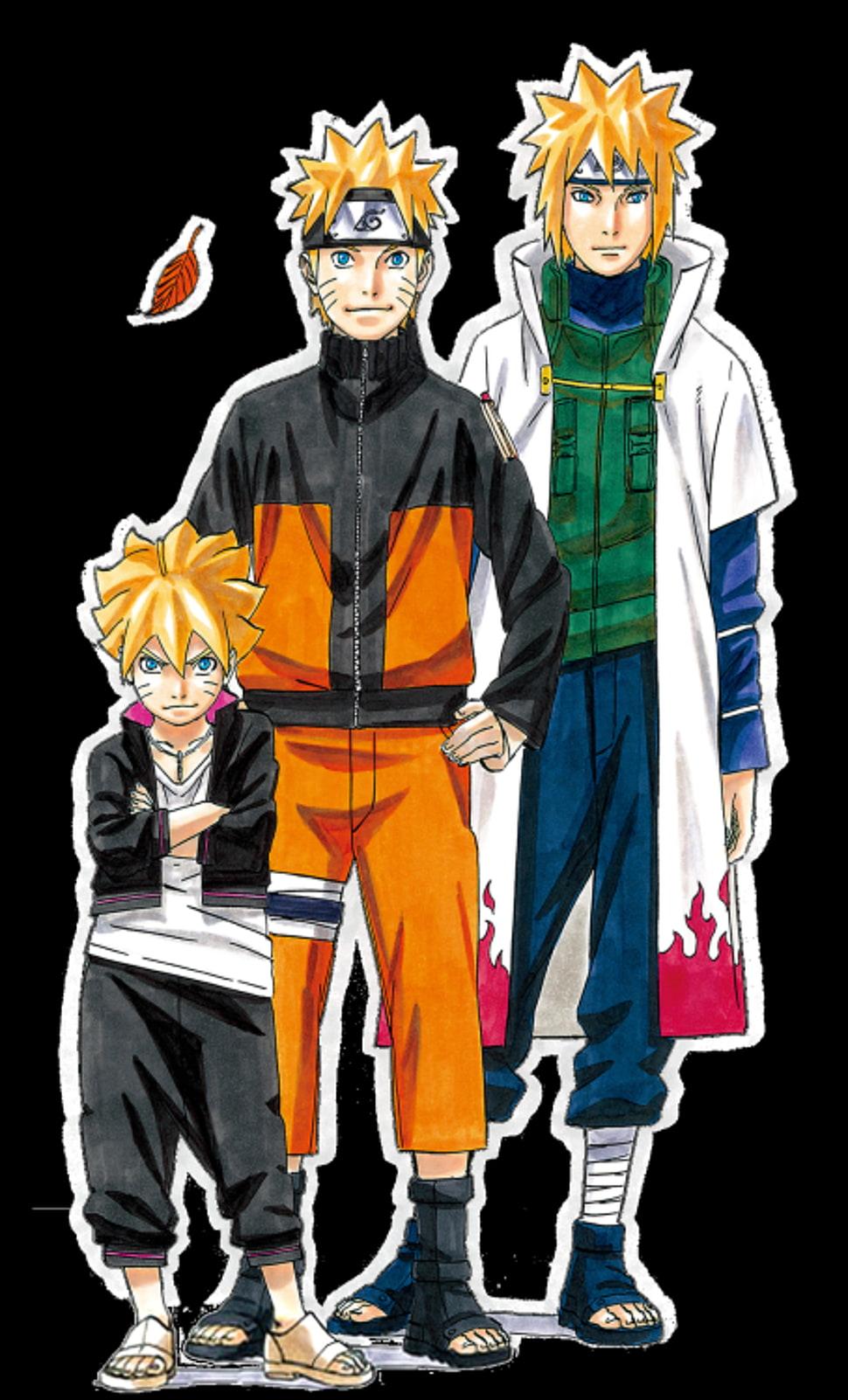 Boruto Naruto and Nagato illustration HD wallpaper