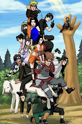 Naruto Character Pile Up iPhone Wallpaper iDesign iPhone